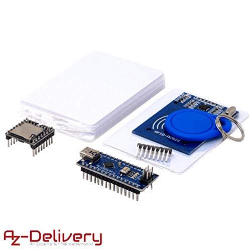 AZDelivery TonUINO Set (Mp3 Player, Nano V3.0, RFID Kit und 10 x 13,56 MHz RFID Karten) inklusive E-Book!