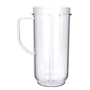 Sduck Handled 22oz Replacement Part Cup Mug with handle For 250w Magic Bullet On-The-Go Mug |