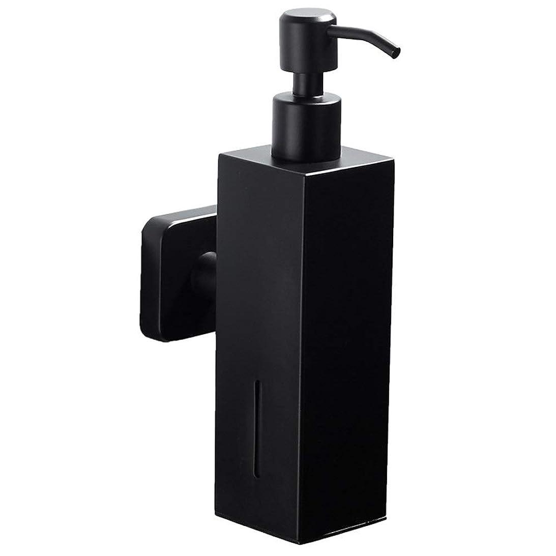 プロポーショナル微生物行う壁ソープディスペンサー 浴室の台所の流しのための石鹸ディスペンサーの壁に取り付けられたコンディショナーの石鹸ディスペンサー ソープディスペンサー (色 : ブラック, サイズ : 200ml)