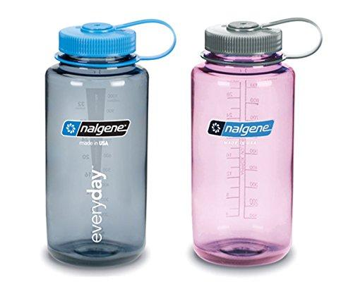 Nalgene, (WM) Water bottles, variety of 2 (Gray and Cosmo) - 32 ounce