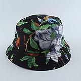 Gorro De Pescador para Mujer,Mujeres Hombres Panama Bucket Hat Love Nature Birds Tree Print Bucket Cap Hip Hop Street Bob Hat Reversible Fisherman Hat