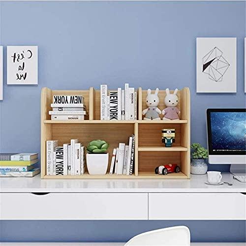 Equipo para el hogar Estantería de escritorio de oficina Almacenamiento de oficina Estante para libros de múltiples capas Organizador de escritorio Estante de exhibición de madera para niños Niños