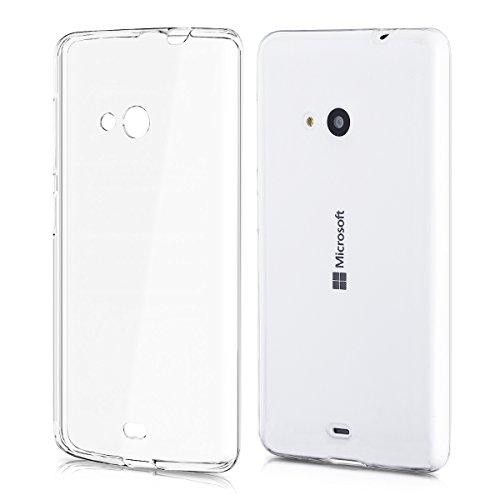 kwmobile Microsoft Lumia 535 Hülle - Handyhülle für Microsoft Lumia 535 - Handy Case in Transparent