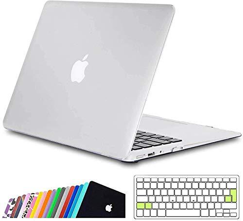 iNeseon MacBook Air Funda de 13 Pulgadas (Modelo A1466 A1369), Protectora Rígida Carcasa con Cubierta de Teclado para MacBook Air 13 2010-2017 (Tamaño 32.5 x 22.7cm), Claro Helado
