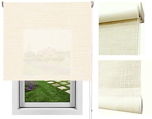 Estores de Tela Enrollables Tejido Moon/Estor Clasico Visillo en Sistema Enrollable. Textura del Lino. Medidas expresadas Ancho x Alto. Color: Beige. Medidas: 188cm x 200cm