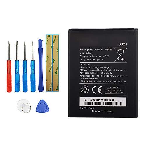 Vvsialeek Batería de repuesto WIKO 3921 compatible con Lenny 5 con kit de herramientas gratuito