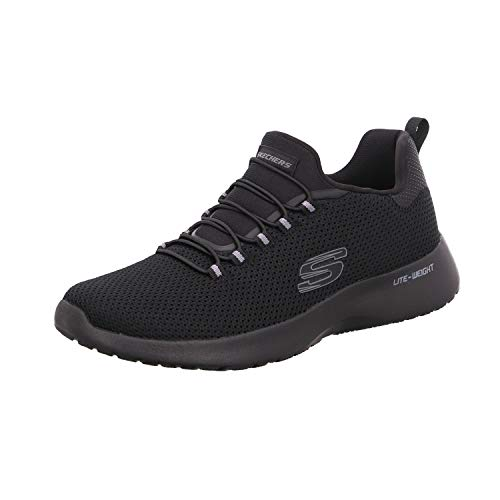 Skechers - Sneaker da uomo Dynamight (58360 NVY), numeri grandi, blu, Nero (Nero ), 43 EU