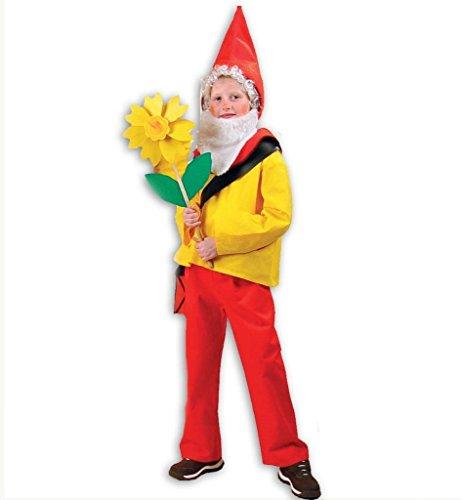 KarnevalsTeufel Kinderkostüm Zwerg Purzelbaum Zwergenkostüm, Kinderzwerg, Gartenzwerg, Zwerg, Gnom (140)