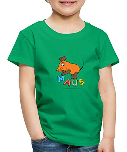 Die Maus- Buchstaben Kinder Premium T-Shirt, 134-140, Kelly Green