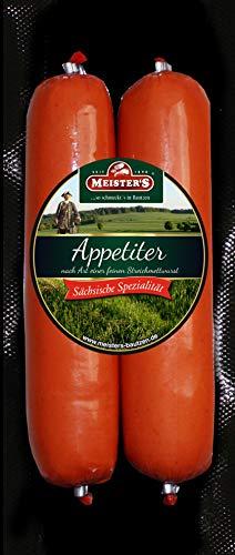 Feine Streichwurst | Wurst geräuchert | Kinderwurst Aufstrich | Premium Appetiter DDR Rezept | 2 x...