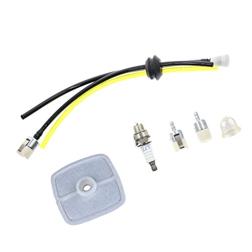 Sharplace Benzinfilter Benzinschlauch Zündkerze Set für Echo Motorsense Heckenschere Freischneider PPF-210 PPF-211