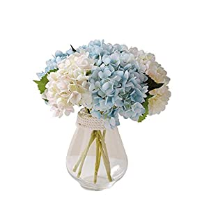 Silk Flower Arrangements Amon Real Touch Flowers for Wedding Party Home Garden Decoration Artificial Flowers with Vase Babies Breath Flowers Fake Plants Bouquets for Wedding Home DIY Decoration
