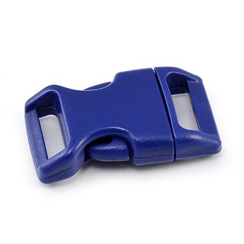 Ganzoo 'Fermeture à clic Lot de 3/4 (20 mm) en plastique à douille/fermeture par clip/No/fermeture à douille pour Paracord ärmbänder, colliers de chien, sac à dos de voyage bagages etc, bleu foncé