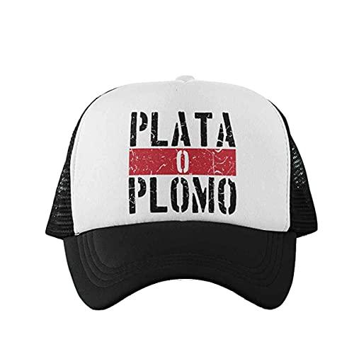 CHEMAGLIETTE! Cappellino Uomo Donna Berretto Cappello con Visiera Trucker Stampa Plata o Plomo