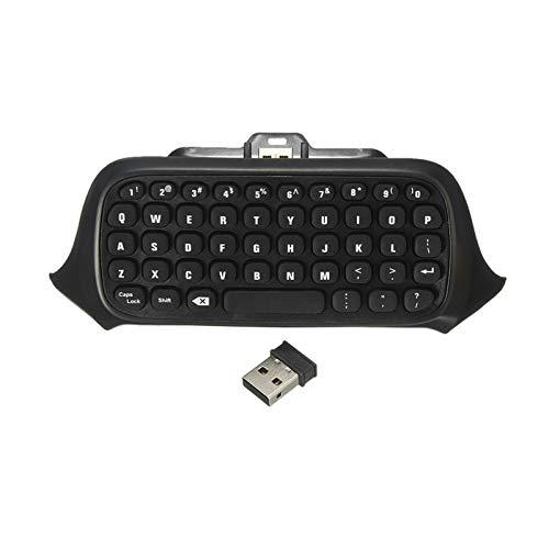 Y-hm Sensación cómoda Miniskirt Wireless Chatpad Mensaje 47 Teclas Teclado Teclado Controlador Controlador Teclado Teclado Negro/Blanco para Xbox One 2.4G USB Diseño portátil (Color : Black)