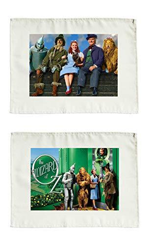 Juego de 2 manteles individuales de tela, diseño de El mago de Oz
