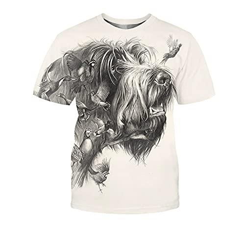 Casuales Camisa Hombre Verano Cuello Redondo Creativo 3D Animal Impresión Moderna Moda Manga Corta Shirt Estilo Hip Hop Fresca Tendencia Hombre Streetwear TX-2688 L