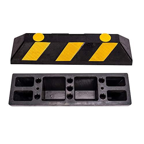 DXP 2er/Set Gummi Parkplatzbegrenzung Parkplatz-Markierung für Parkplätze und Garagen 56*10*15cm