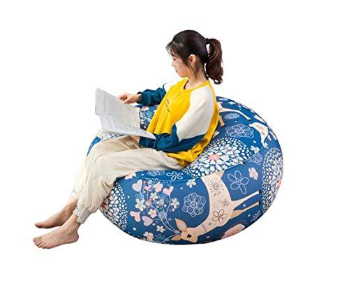 noyydh Sitzsack Tatami Lazy Couch Single Stoff Cartoon Kissen Schlafzimmer Wohnzimmer Balkon Cute Recliner Large Medium Small Size (Size : M)