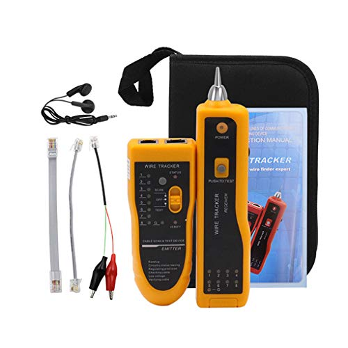ZJL220 Comprobador de cables LAN Cat5 Cat6 RJ11 RJ45 UTP STP detector de línea rastreador de teléfono diagnóstico