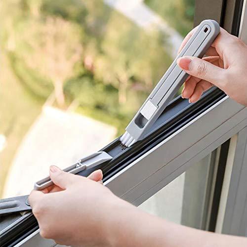 Mini-Drei-in-Eins-Tür- und Fensterfugenbürste-Tastatur-Kühlschrank-Reinigungsvliesbürste mit drei-in-Eins-Nylonbürsten-Kehrschaufel, Küchenreinigungsbürste