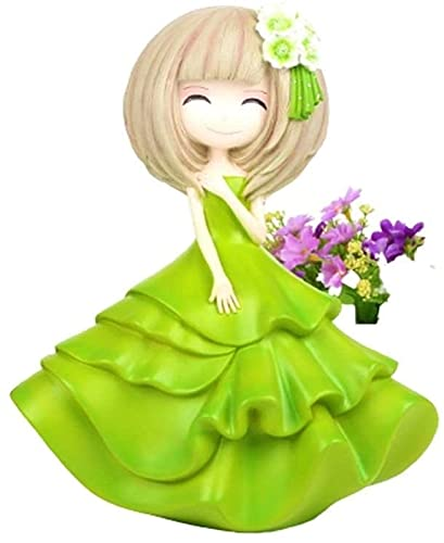XHAEJ Nueva Hucha Linda para niñas, Banco de Monedas de Monedas niñas, para niños, para Regalo de cumpleaños o como decoración del hogar (Color : Green)