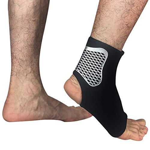 Demarkt - Calcetines de compresión unisex para los tobillos, para los pies izquierdos y derechos, protección para el talón, para guardar los tobillos, voleibol, baloncesto, color negro-L, tamaño 42-45