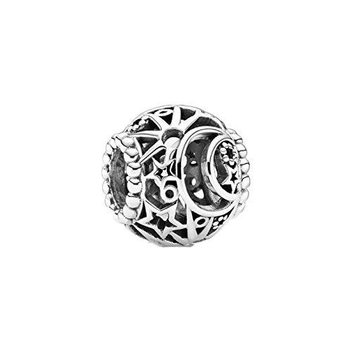 Diy Jewelry Winter Christmas Gift Jewelry Fit Original Pandora Bracelet 925 Sterling Silver Beads Openwork Sun Stars Moon Charm