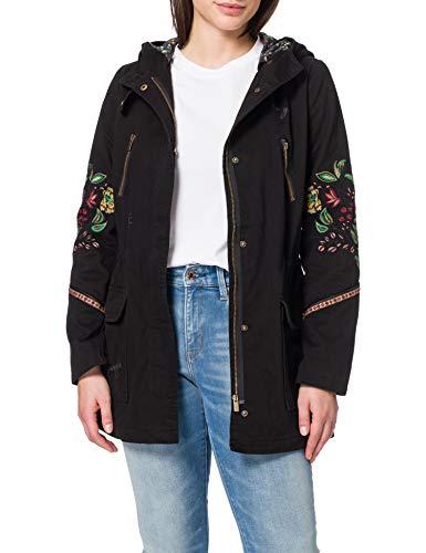 Desigual Womens CHAQ_IGGY POP Jacket, Black, 46