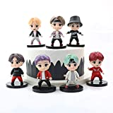 YUY 7PCS BTS Mini Idol Doll Deluxe Figure Play Set BTS Cake Topper Premium Cake Toppers Y Regalos De...