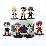 YUY 7PCS BTS Mini Idol Doll Deluxe Figure Play Set BTS Cake Topper Premium Cake Toppers Y Regalos De Fiesta para BTS Proveedor De Fiestas