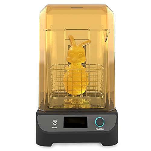 DERUC Geeetech GCW02 Macchina per polimerizzazione e lavaggio, 2 in 1 UV Wash e Cure Box, con Piastra di Polimerizzazione Rotante e Secchio di Lavaggio per stampante in resina 3D LCD DLP SLA