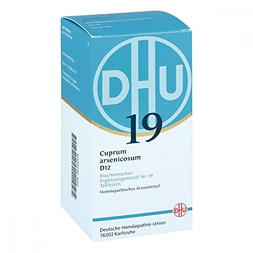 DHU Schüßler-Salz Nr. 19 Cuprum arsenicosum D12 Tabletten, 420 St. Tabletten
