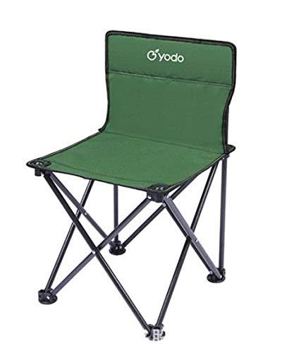 REAYOU - Sedia pieghevole da campeggio, leggera e resistente, ideale per campeggio, festival, giardino, viaggi in roulotte, pesca, spiaggia, barbecue (verde)