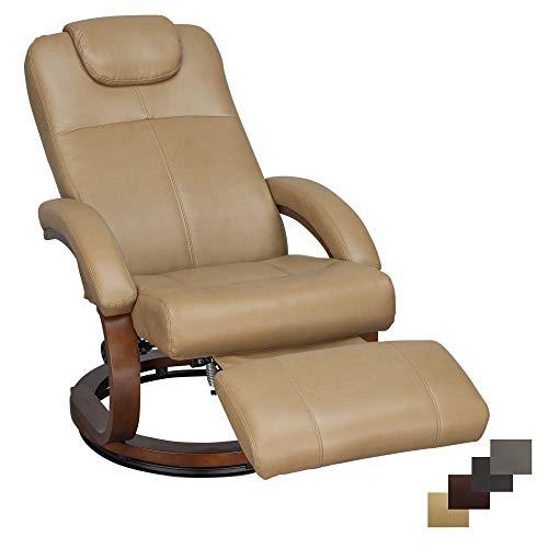 Charles 28' RV Euro Chair Recliner Modern Design RV Furniture RV Recliner (1 Chair, Toffee)