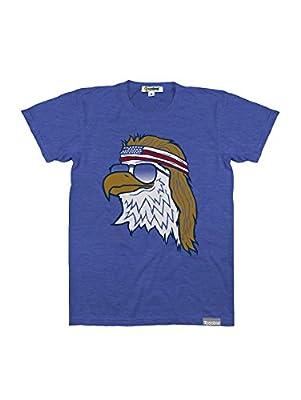 Men's Blue Epic Bald Eagle Tee: X-Large