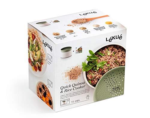 Lékué - Récipient pour préparer Quinoa, Riz et céréales, Vert