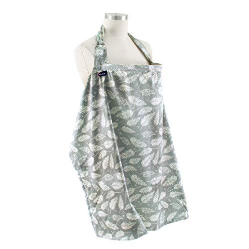 Bebe au Lait Premium Cotton Nursing Cover Lightweight and Breathable Cotton Open Neckline One Size Fits All  Fern
