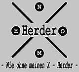 Aufkleber Nie ohne meinen X Herder
