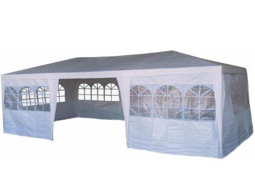 Pavillion Pavillon 3 x 9 Meter in Weiß - inkl. 8 Seitenteile