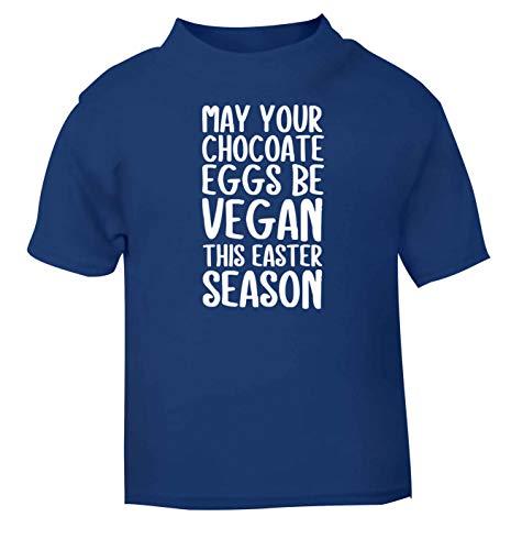Flox Creative T-Shirt pour bébé Motif œufs au Chocolat - Bleu - 1-2 Ans