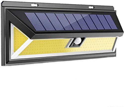 GANE Solarleuchten im Freien, 180 LED Solar Bewegungssensor Sicherheitsleuchten Solarbetriebene Leuchten wasserdichte drahtlose Wandleuchten Solarleuchten mit 3 intelligenten Modi