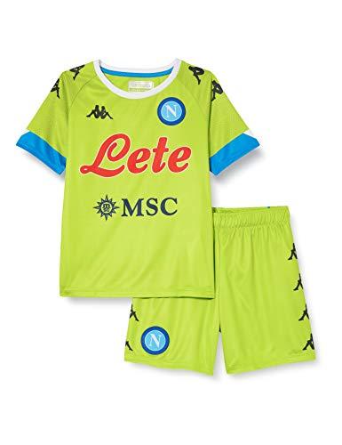 SSC Napoli Equipación competición Portero Domicilio Niño 2020/21 Kit Infantil Away, Unisex niños, Green Lime-Azure, 6 años