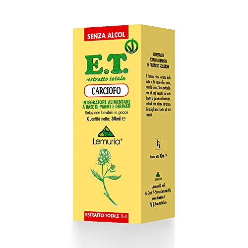 CARCIOFO E.T. estratto totale 1:1 senza alcol Integratore Alimentare a Base di Piante e Derivati - 30 ml