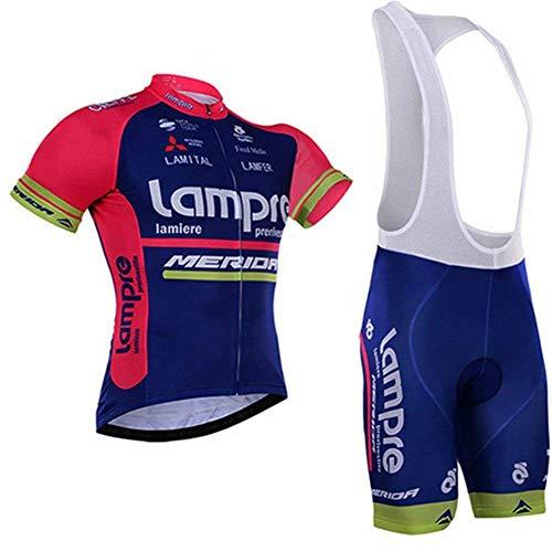 SUHINFE Maillot Ciclismo Mujer Verano, Respirable equipacion Ciclismo y Culotte Tira Reflectante y Bolsillos Traseros, MTB