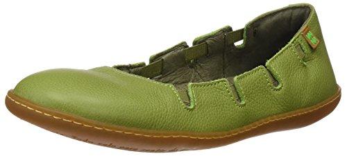 El Naturalista S.A N5272 Soft Grain El Viajero, Damen Flachbett-Grün (Green), 39 EU