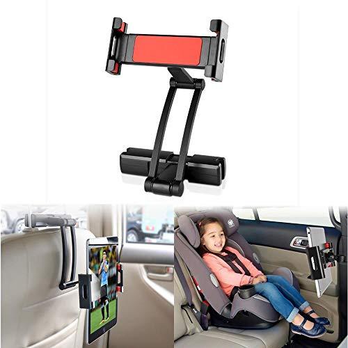 DJXM Aluminum Tablet Pc Car Holder 5-13 Inches Foldable Adjustable Tablet Pc Phone Holder black