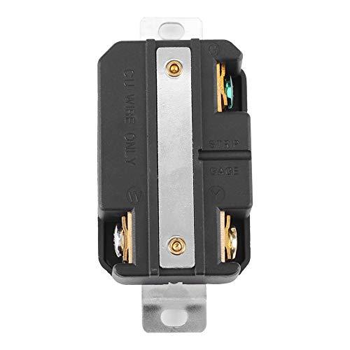 Receptáculo hembra NEMA L5-30R 30A Receptáculo de bloqueo giratorio Generador eléctrico de 1 pieza para ensamblaje de cable de generador 20000 veces