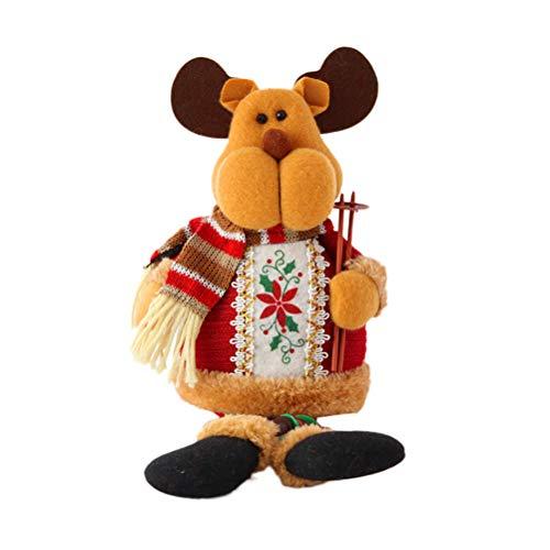 BESTOYARD Decoraciones navideñas Figura de Reno Muñeca de Juguete Fiesta de Navidad Decoración Hogar Interior...