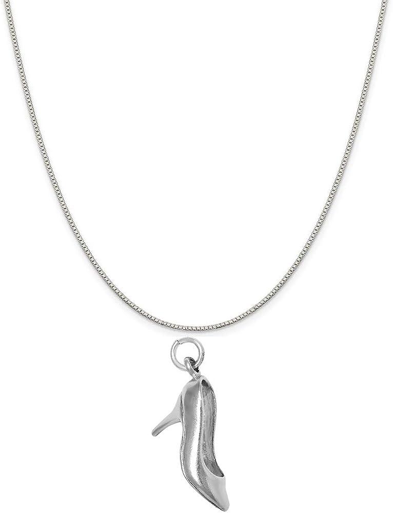 Raposa Elegance Sterling Brand Cheap Sale Venue Silver 3D High Max 68% OFF Heels Charm Necklac Shoe